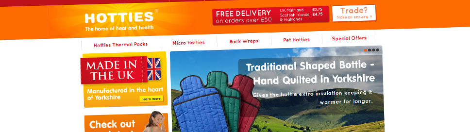 Hot water Bottle E-Commerce Retailer