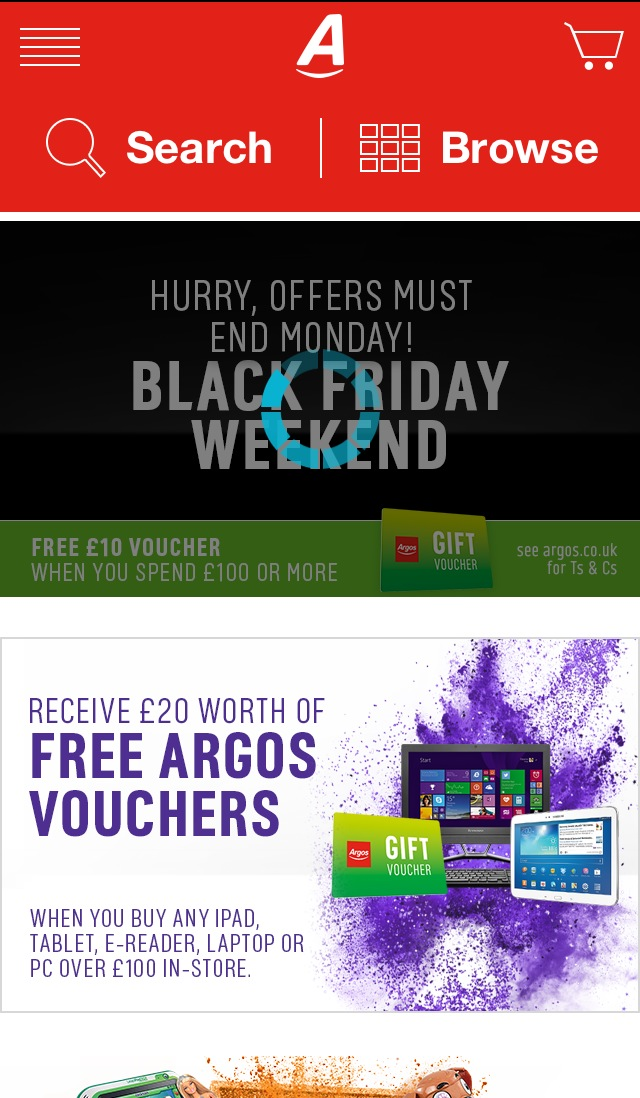 Black Friday Argos Website