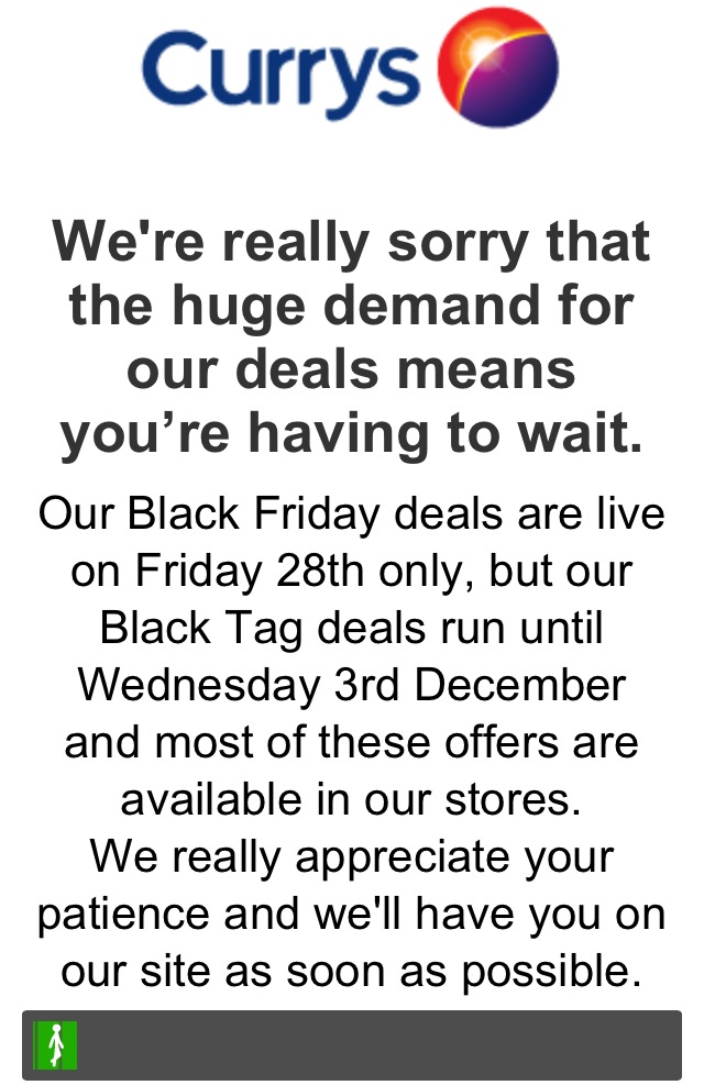 Black Friday Currys Website